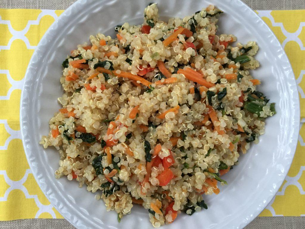 Quinoa Bowl with Peanut Sauce