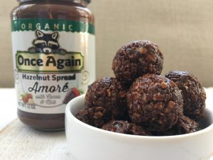 Chocolate Hazelnut Oat Bites