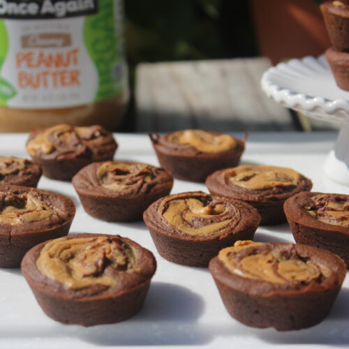 black bean brownie with peanut butter